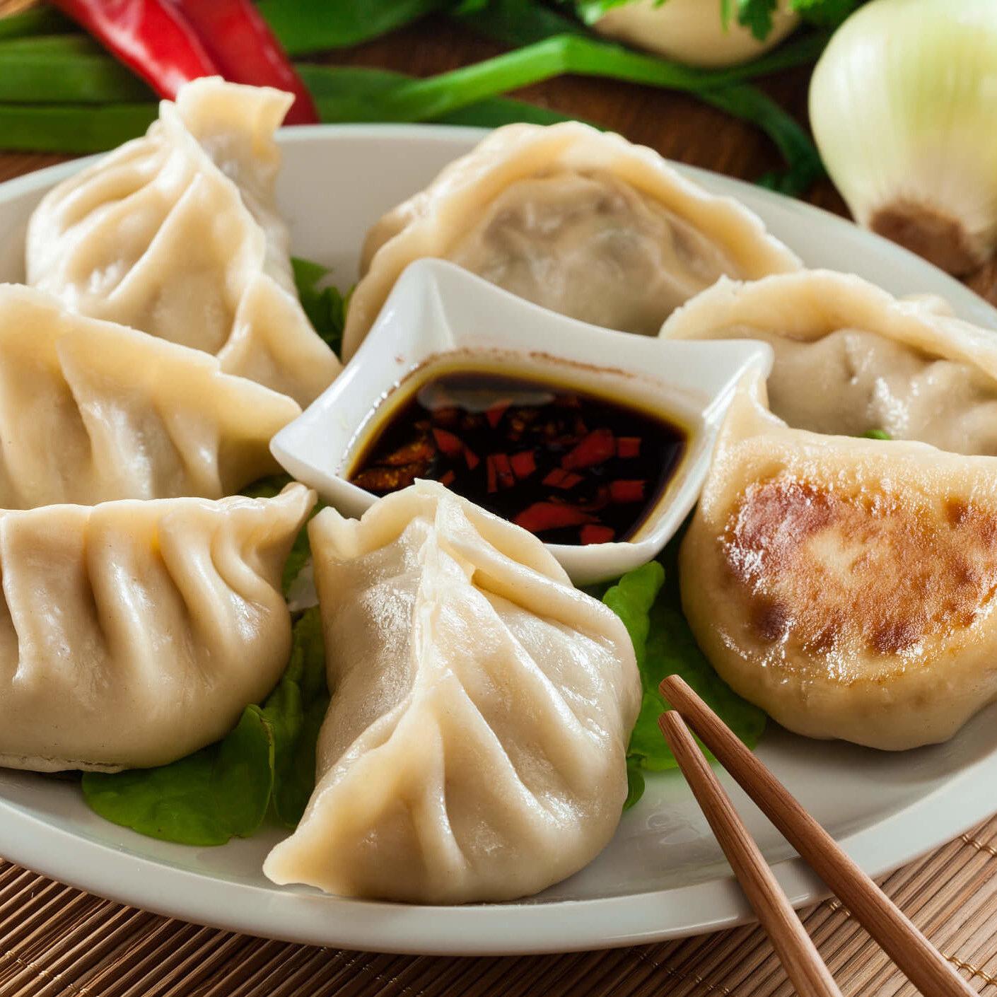 selbstgemachte Dumplings online live selber kochen